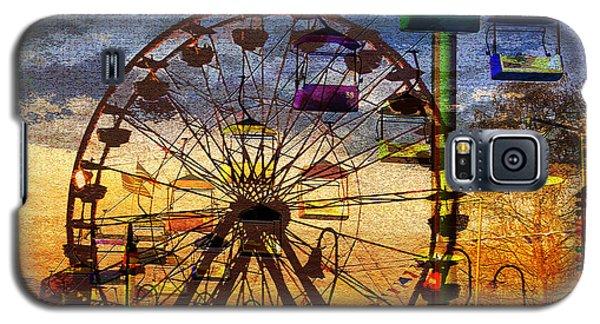 Galaxy S5 Case featuring the digital art Ferris At Dusk by David Lee Thompson