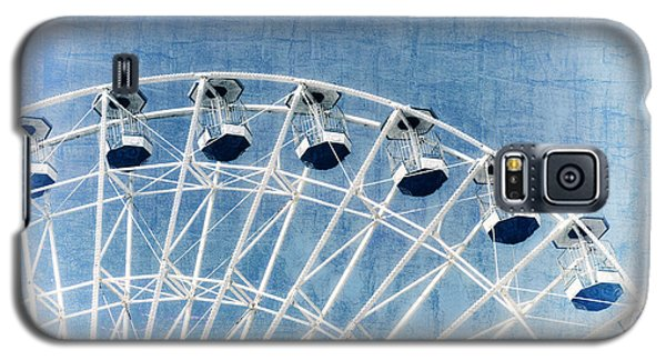 Wonder Wheel Series 1 Blue Galaxy S5 Case by Marianne Campolongo