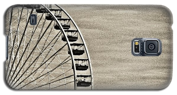 Ferris Wheel In Sepia Galaxy S5 Case