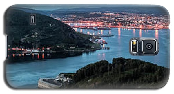 Ferrol's Estuary Panorama From La Bailadora Galicia Spain Galaxy S5 Case