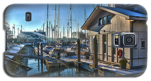 Ferry Harbour In Winter Galaxy S5 Case by Frans Blok