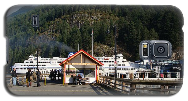Galaxy S5 Case featuring the painting Ferry Landed At Horseshoe Bay by Rod Jellison