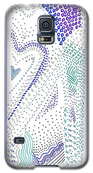 Festival In Blue And Silver Galaxy S5 Case