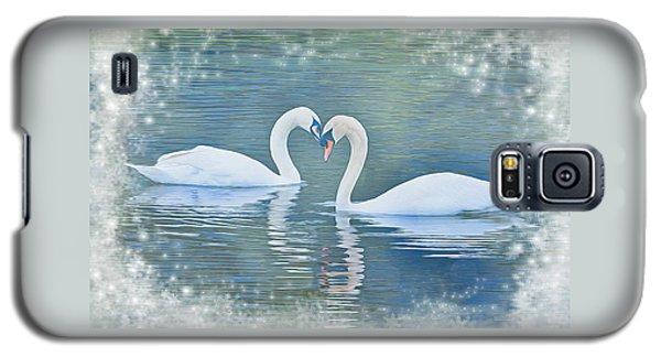 Festive Swan Love Galaxy S5 Case by Diane Alexander