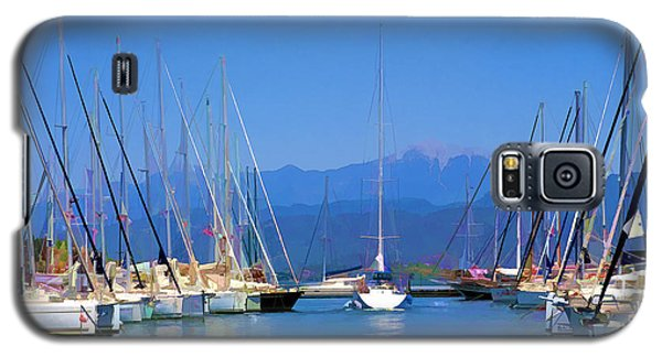 Galaxy S5 Case featuring the digital art Fethiye Harbour by Rob Tullis