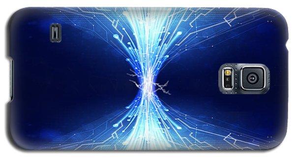 Fiber Optics And Circuit Board Galaxy S5 Case by Setsiri Silapasuwanchai
