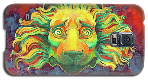 Galaxy S5 Case featuring the painting Fidardo's Lion by Andrew Danielsen