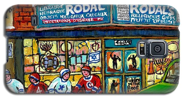 Fiddler On The Roof Painting Canadian Art Jewish Montreal Memories Rodal Gift Shop Van Horne Hockey  Galaxy S5 Case