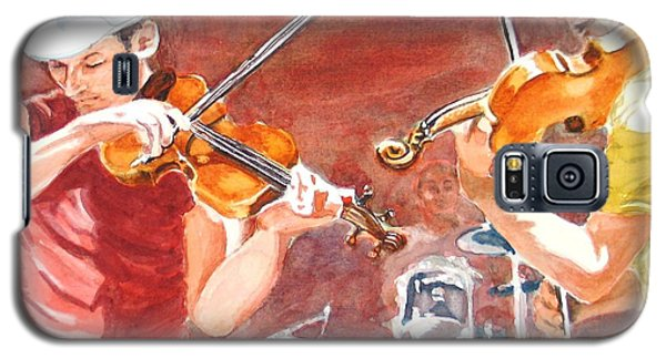Galaxy S5 Case featuring the painting Fiddles by Karen Ilari