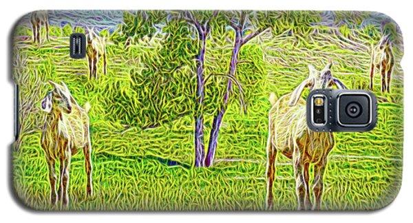 Field Of Baby Goat Dreams Galaxy S5 Case by Joel Bruce Wallach