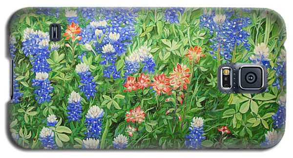 Galaxy S5 Case featuring the painting Field Of Blue by Mike Ivey