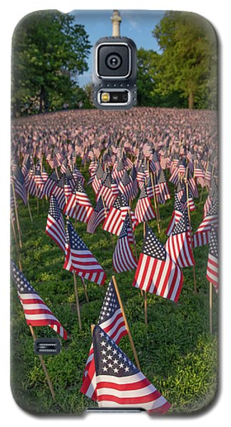 Field Of Flags At Boston's Soldiers And Sailors Monument Galaxy S5 Case