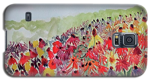 Galaxy S5 Case featuring the painting Field Of Flowers by Sandy McIntire