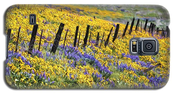Field Of Gold And Purple Galaxy S5 Case