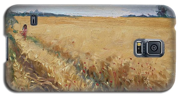Georgetown Galaxy S5 Case - Field Of Grain In Georgetown On by Ylli Haruni