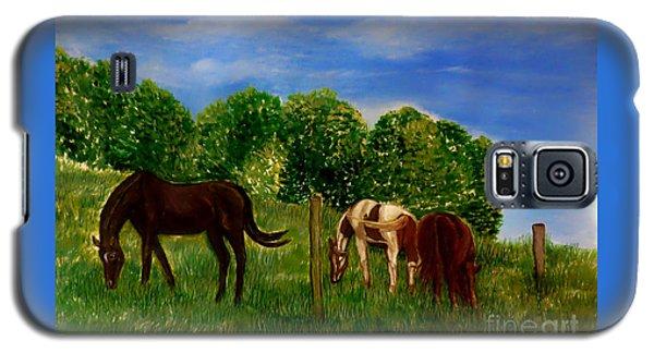Field Of Horses' Dreams Galaxy S5 Case