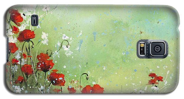 Galaxy S5 Case featuring the painting Field Of Imagination by Laura Lee Zanghetti