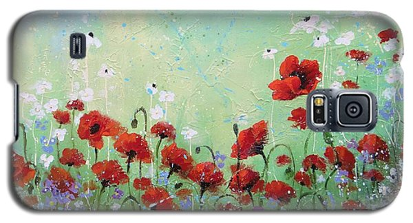 Galaxy S5 Case featuring the painting Field Of Imagination Two by Laura Lee Zanghetti