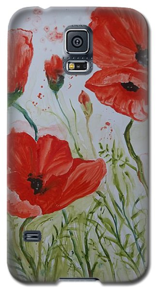 Field Of Poppies Galaxy S5 Case