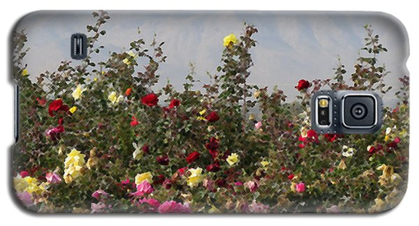 Galaxy S5 Case featuring the photograph Field Of Roses by Laurel Powell
