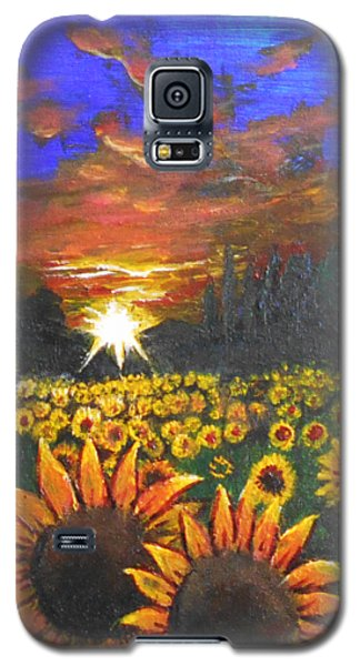 Field Of Sunflowers Galaxy S5 Case