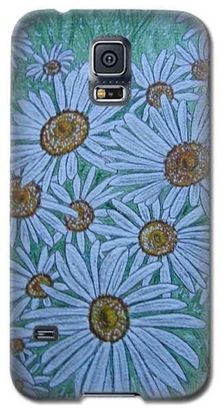 Galaxy S5 Case featuring the painting Field Of Wild Daisies by Kathy Marrs Chandler