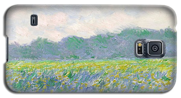 Landscapes Galaxy S5 Case - Field Of Yellow Irises At Giverny by Claude Monet