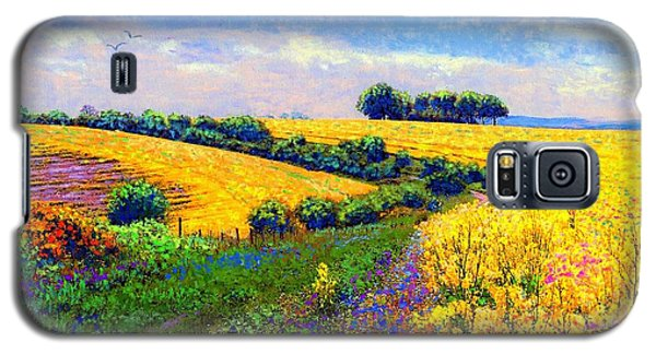 Galaxy S5 Case featuring the painting Fields Of Gold by Jane Small