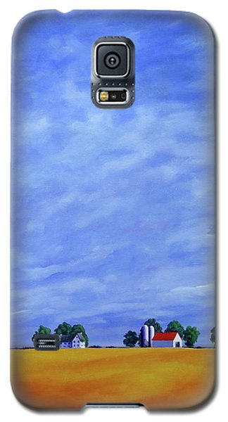 Galaxy S5 Case featuring the painting Fields Of Gold by Jo Appleby