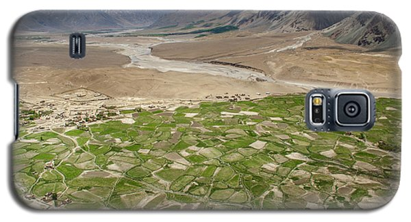 Galaxy S5 Case featuring the photograph Fields Of Zangla, Zanskar, 2008 by Hitendra SINKAR