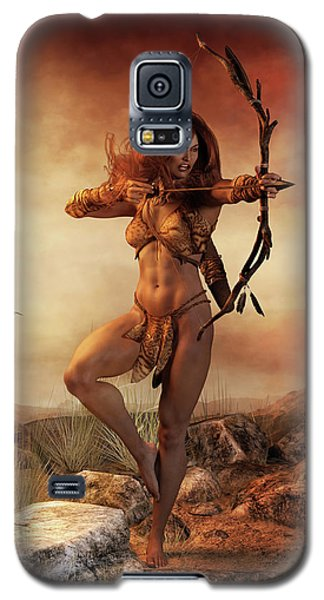 Galaxy S5 Case featuring the digital art Fierce by Shanina Conway