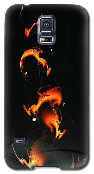 Galaxy S5 Case featuring the digital art Fiery Flower by Anastasiya Malakhova
