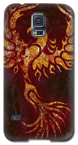 Phoenix Galaxy S5 Case - Fiery Phoenix by Robert Ball