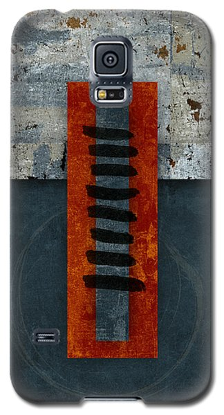 Fiery Red And Indigo One Of Two Galaxy S5 Case by Carol Leigh
