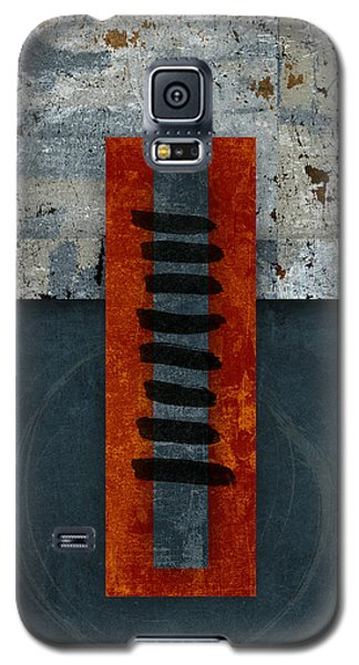 Fiery Red And Indigo One Of Two Galaxy S5 Case