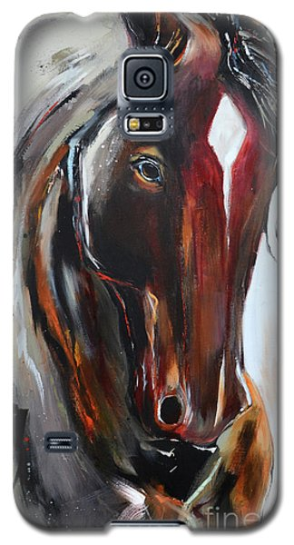 Galaxy S5 Case featuring the painting Fiery Red Head by Cher Devereaux