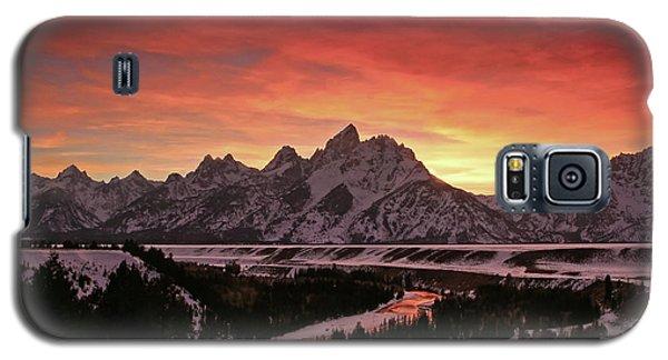 Fiery Sunset On Snake River Galaxy S5 Case