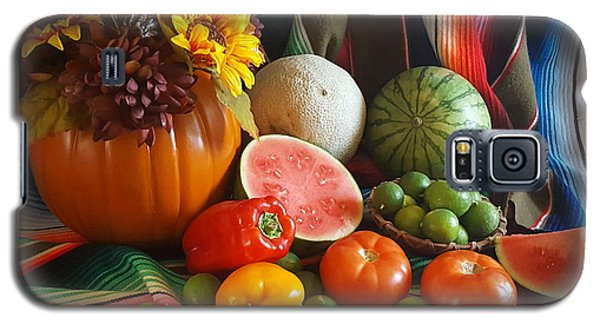 Galaxy S5 Case featuring the painting Fiesta Fall Harvest by Marilyn Smith