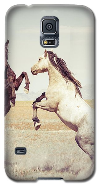 Fighting Stallions Galaxy S5 Case by Mary Hone
