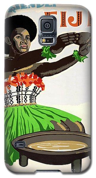Fiji Restored Vintage Travel Poster Galaxy S5 Case