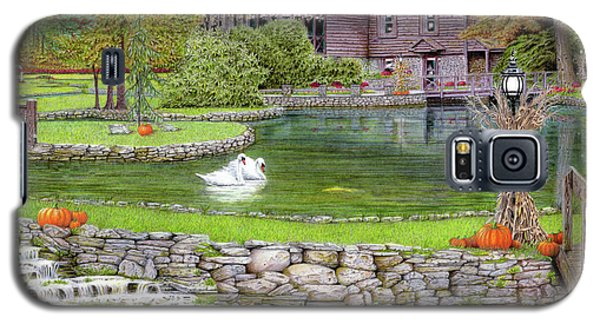 Galaxy S5 Case featuring the drawing Fin N Feather At Seven Springs by Albert Puskaric