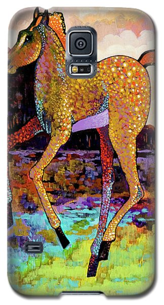 Galaxy S5 Case featuring the painting Finding His Legs by Bob Coonts