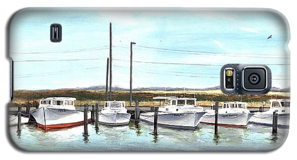 Fine Art Workboats Kent Island Chesapeak Maryland Original Oil Painting Galaxy S5 Case