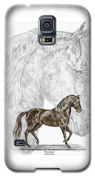 Galaxy S5 Case featuring the drawing Fine Steps - Paso Fino Horse Print Color Tinted by Kelli Swan