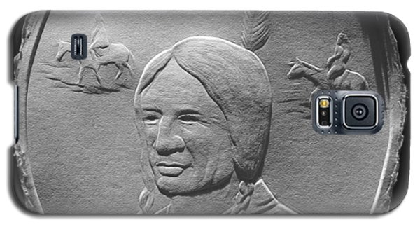 Fingernail Relief Drawing Of American Indian  Galaxy S5 Case by Suhas Tavkar
