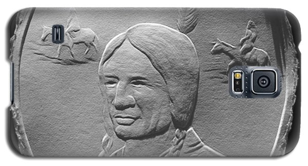 Fingernail Relief Drawing Of American Indian  Galaxy S5 Case