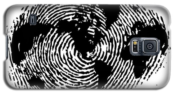 fingerprint 20X30 Galaxy S5 Case