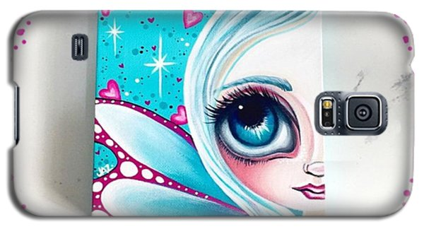 Finished! Little 6x6 Painting Galaxy S5 Case by Jaz Higgins