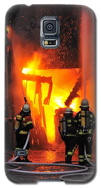 Fire - Burning House - Firefighters Galaxy S5 Case