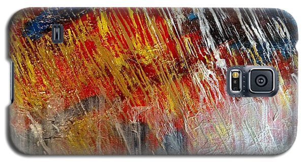Galaxy S5 Case featuring the painting Fire And Ice by Lori Jacobus-Crawford